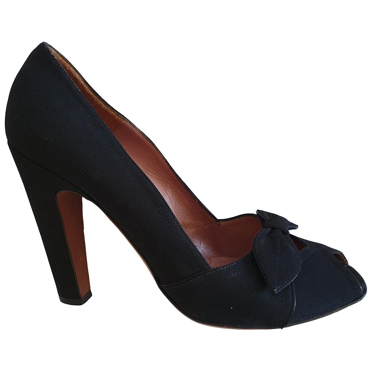 Alaia - Escarpins   pour femme en toile - noir