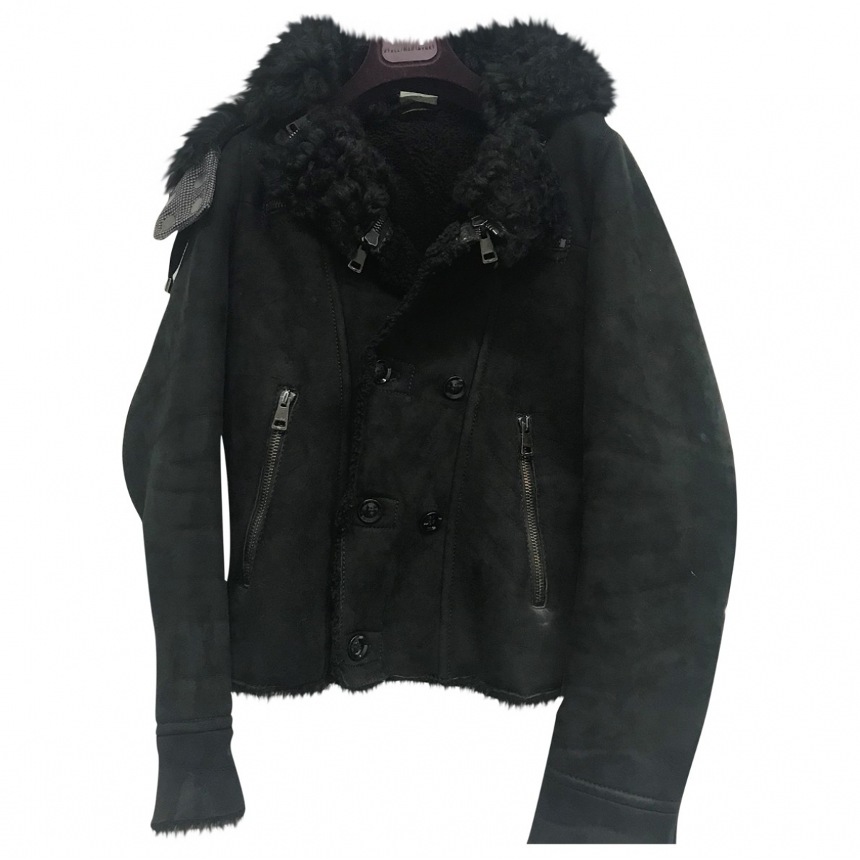 Gucci \N Black Suede jacket for Women 42 IT