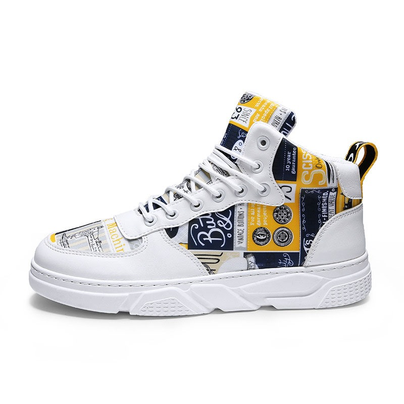 Ericdress High-Cut Upper Color Block Round Toe Men's Casual Skate Shoes
