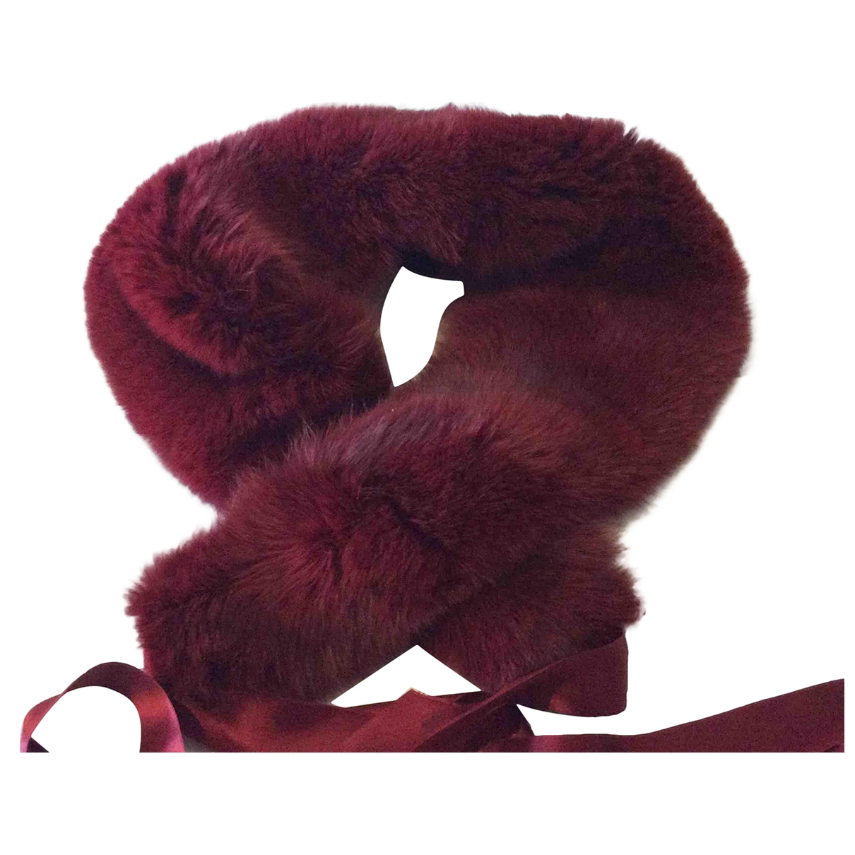 Non Signé / Unsigned \N Burgundy Fox scarf for Women \N