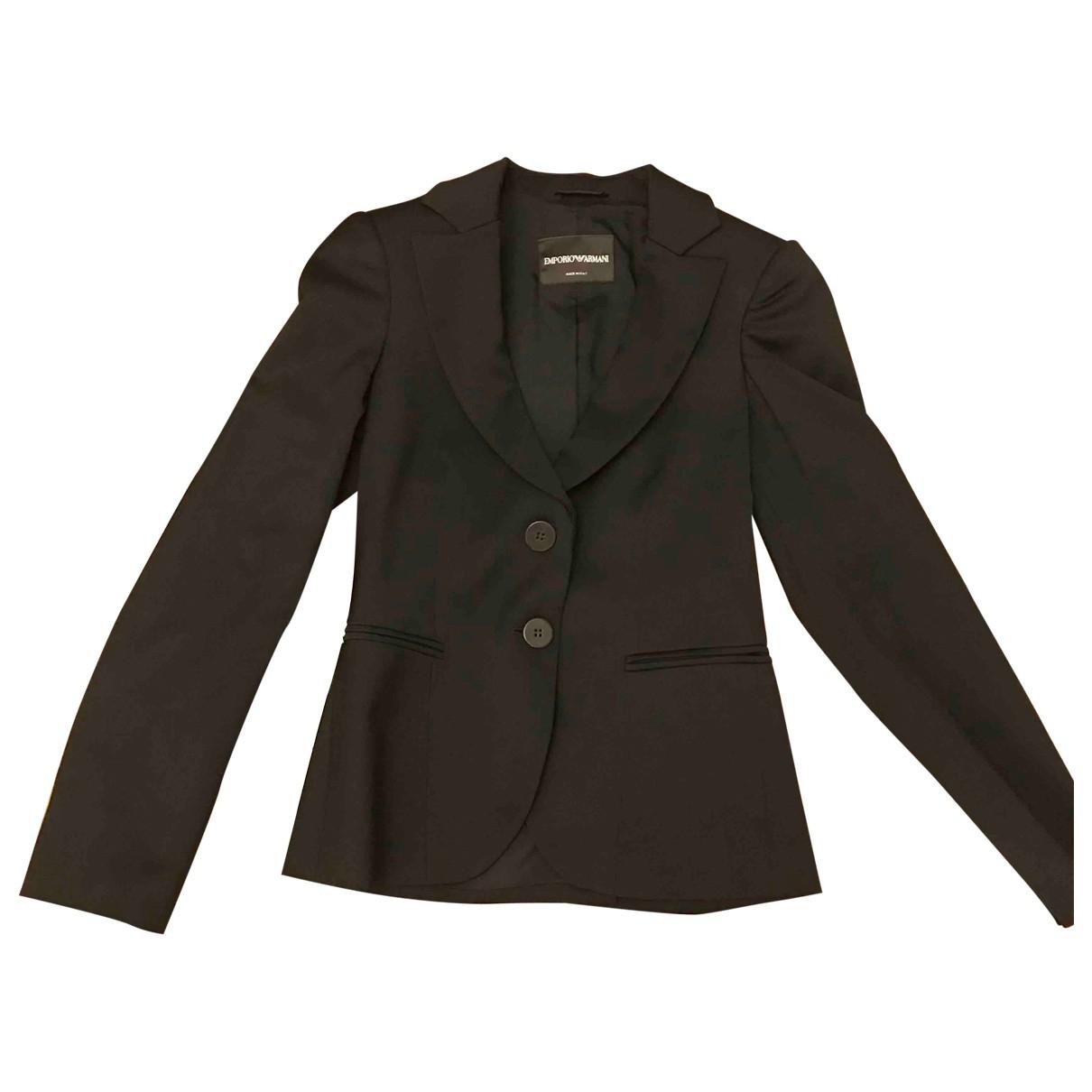 Emporio Armani - Veste   pour femme en laine - noir