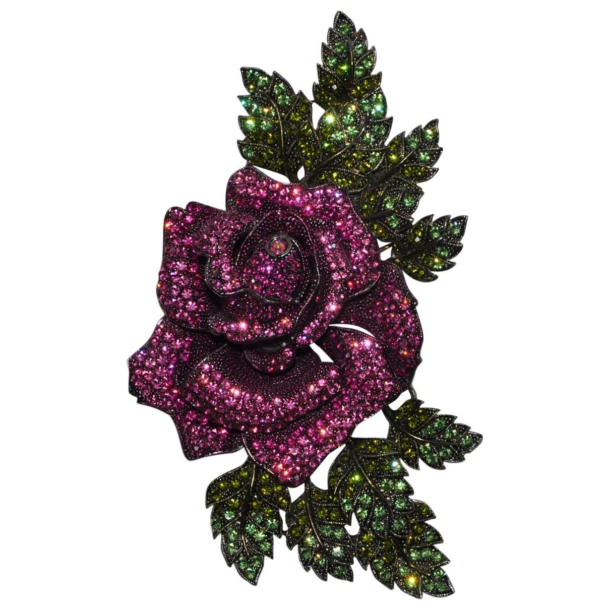- Broche   pour femme en metal - violet