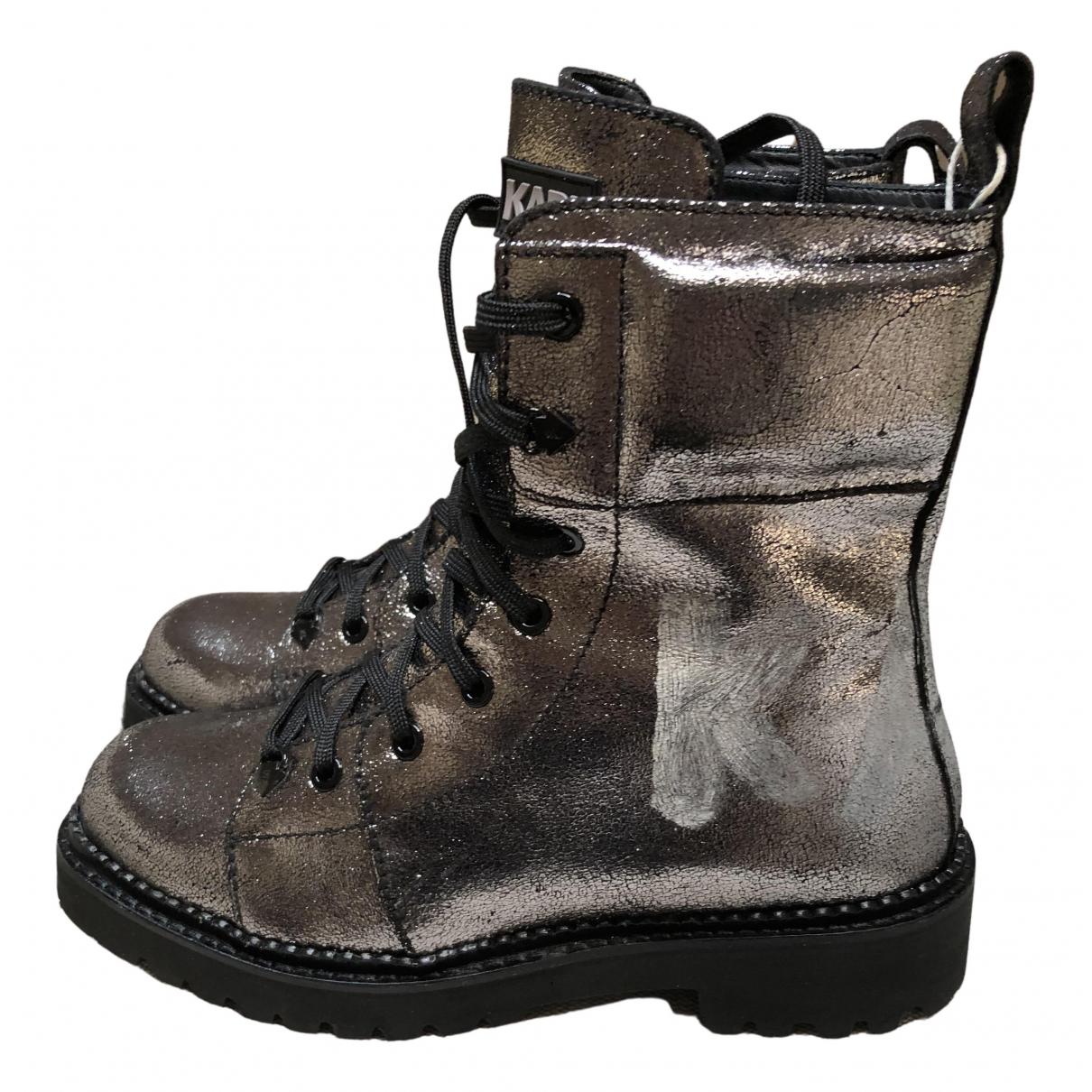 Karl Lagerfeld - Boots   pour femme en cuir