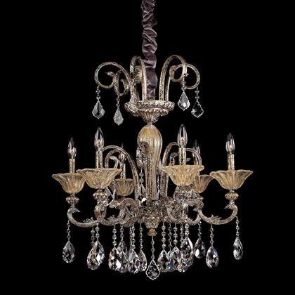 10458-016-FR001 Legrenzi 6-Light Chandelier with Two-Tone Gold 24/K Traditional Style  120V in Two-Tone Gold /24K
