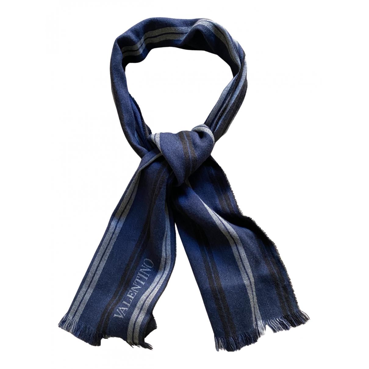 Valentino Garavani \N Tuecher, Schal in  Blau Wolle