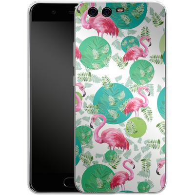 Huawei P10 Silikon Handyhuelle - Flamingo Land von Mukta Lata Barua