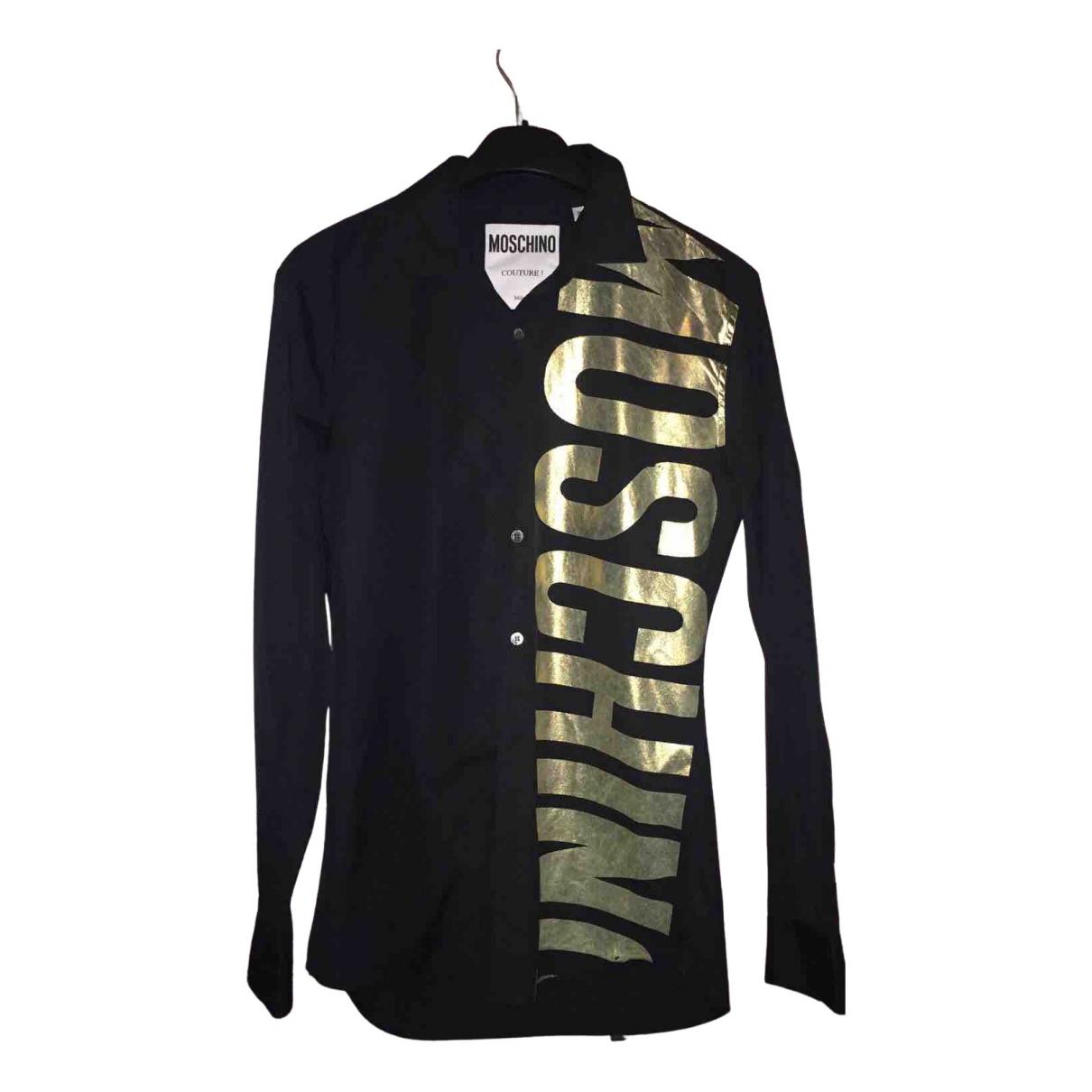 Moschino \N Black Cotton Shirts for Men M International