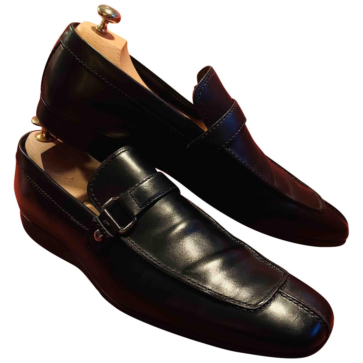Louis Vuitton - Mocassins   pour homme en cuir - noir