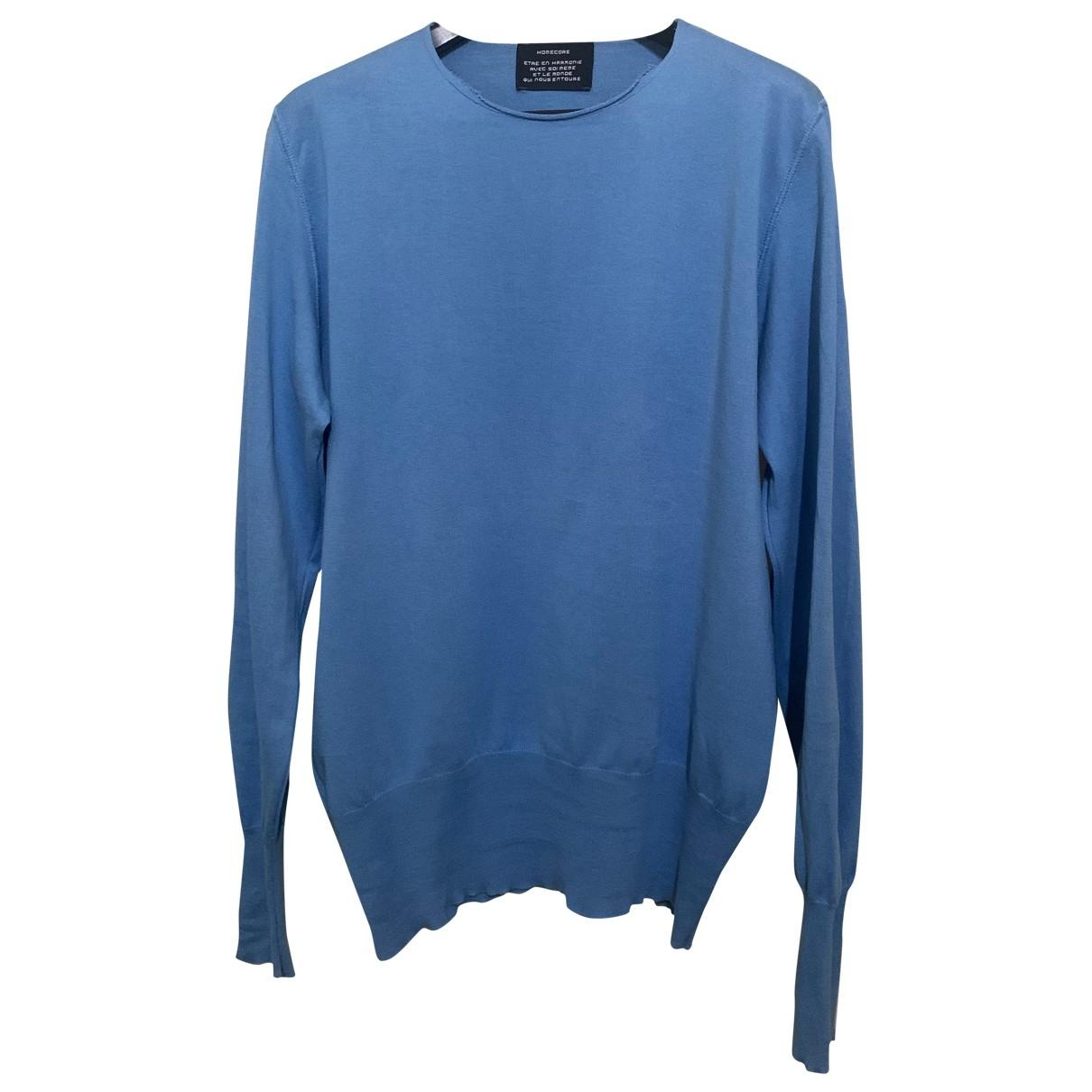 Homecore \N Pullover.Westen.Sweatshirts  in  Blau Baumwolle