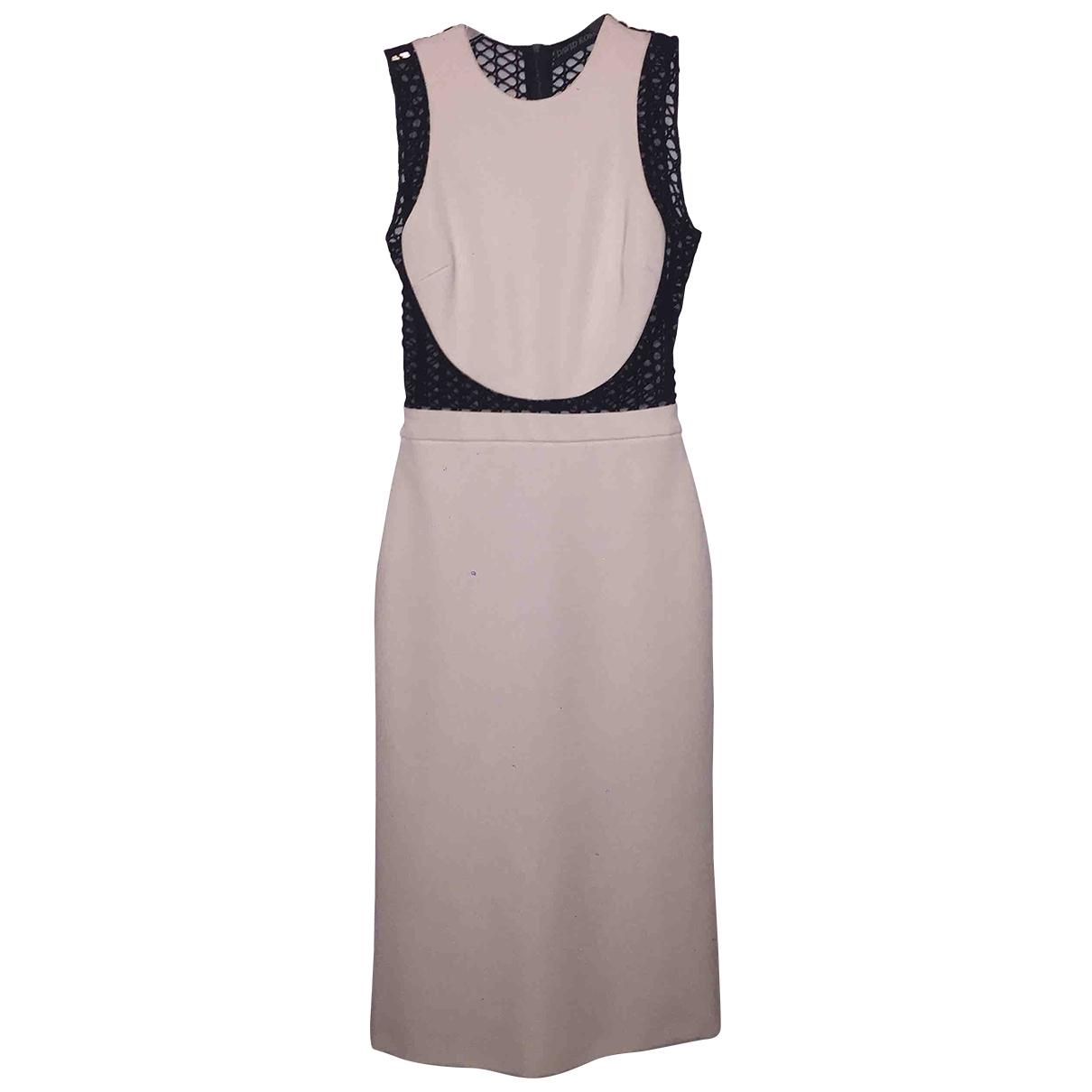 David Koma \N White Cotton - elasthane dress for Women 8 UK