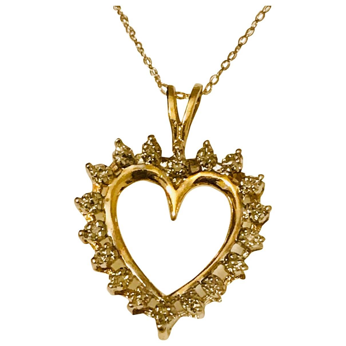 - Pendentif Motifs Coeurs pour femme en or jaune