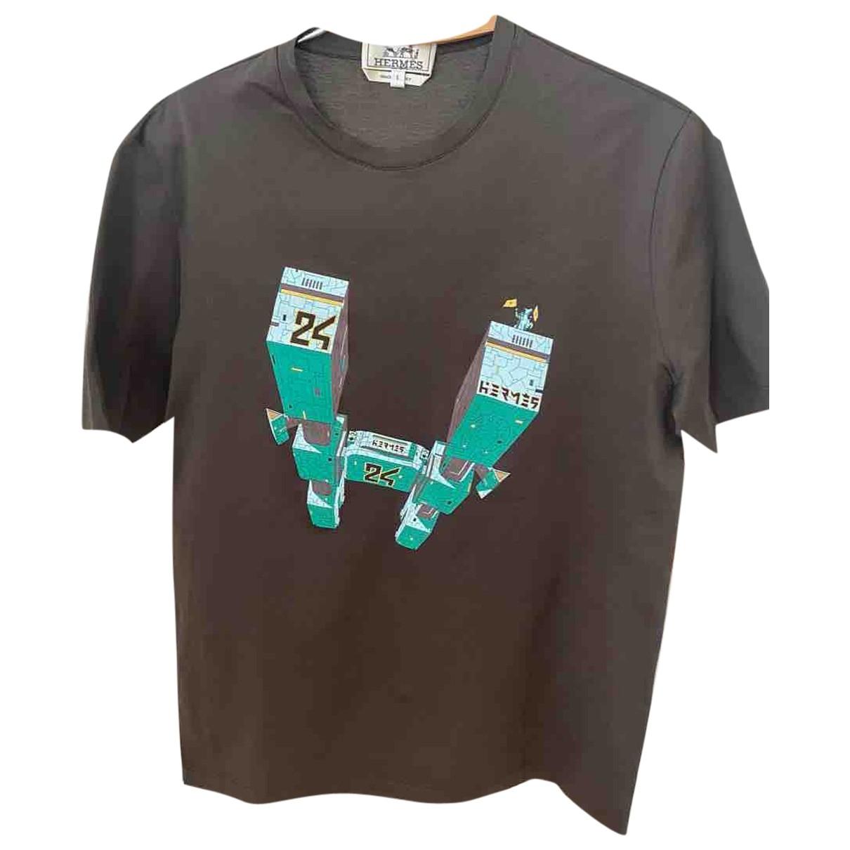 Hermes - Tee shirts   pour homme en coton - vert