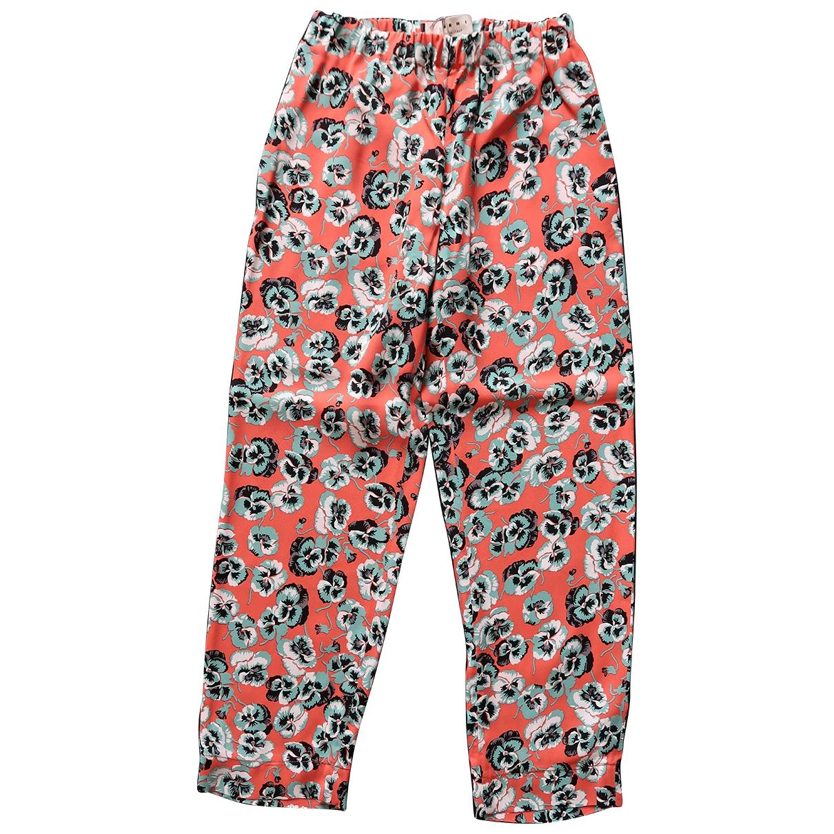 Pantalon en Viscosa Multicolor Marni