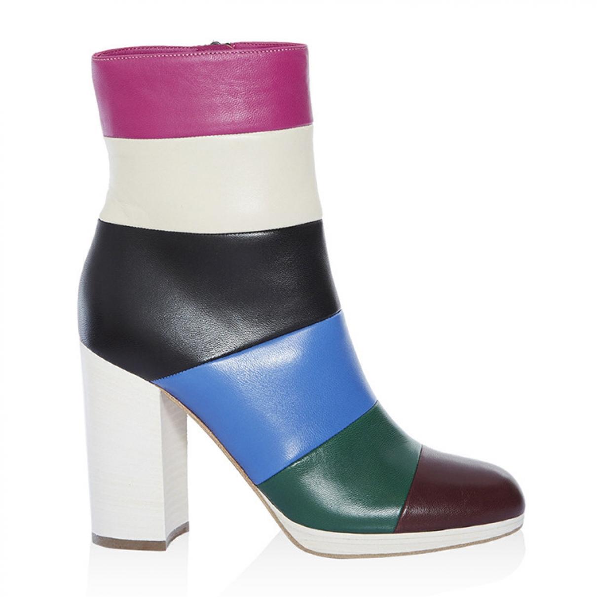 Valentino Garavani - Boots   pour femme en cuir - multicolore