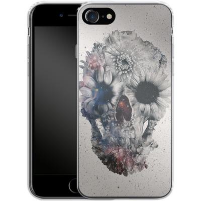 Apple iPhone 8 Silikon Handyhuelle - Floral Skull 2 von Ali Gulec