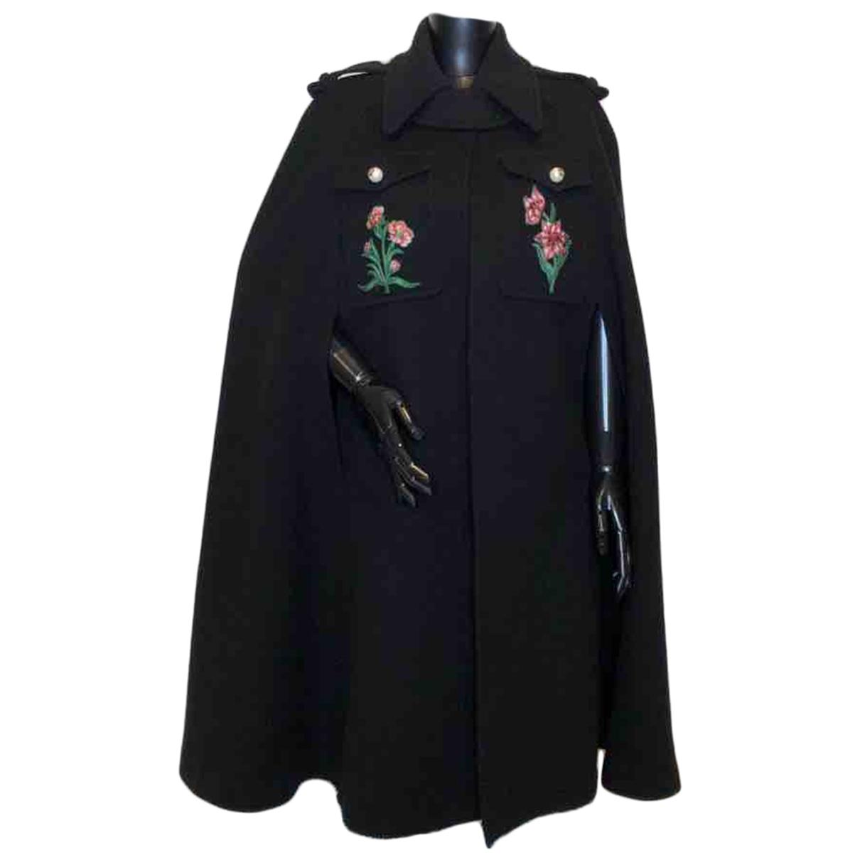 Gucci \N Black Wool coat for Women 42 IT