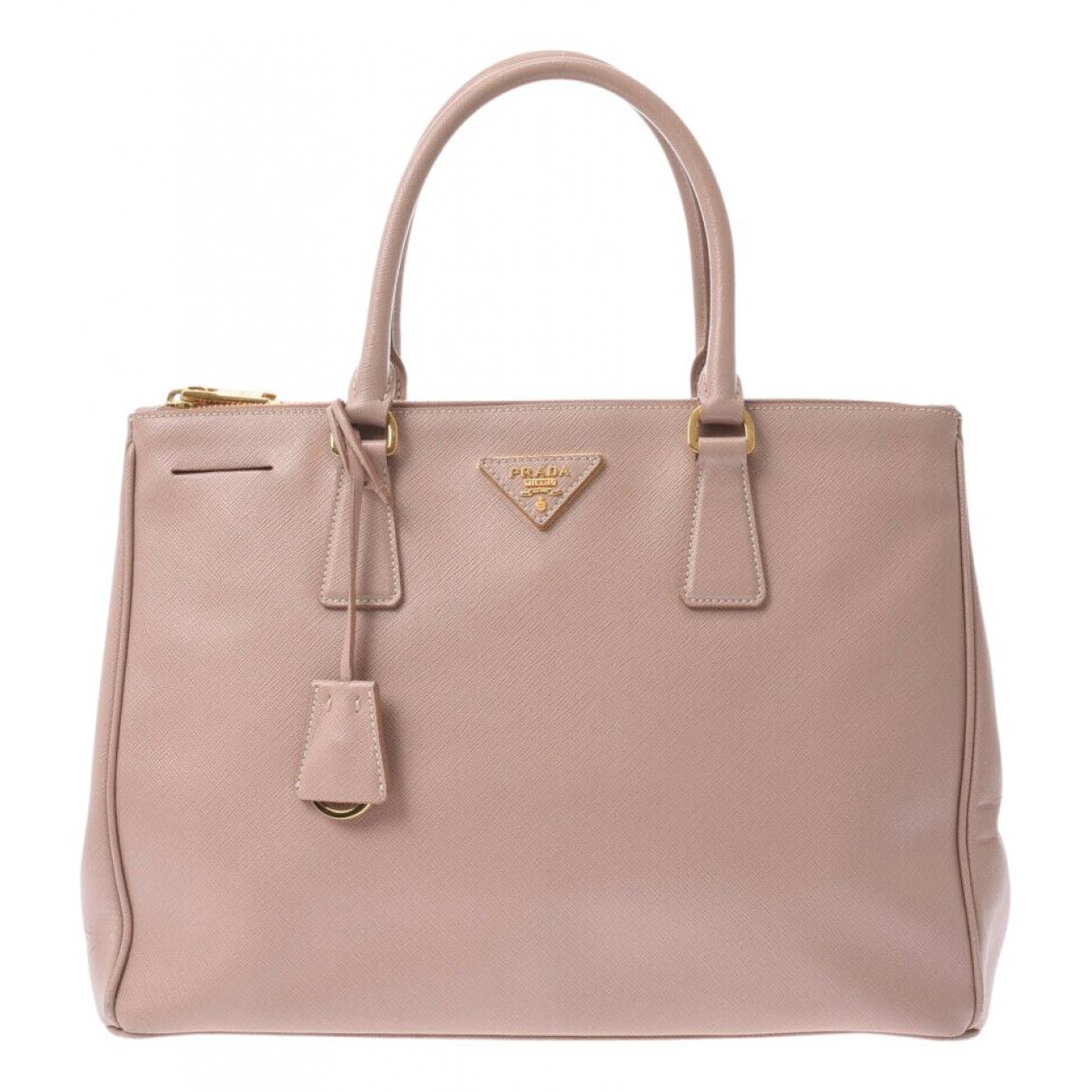 Prada saffiano  Pink Leather handbag for Women N