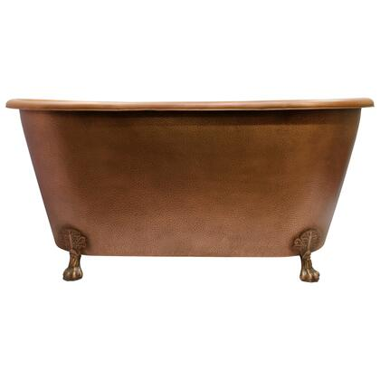 COTRN68-AC-AC Panya 68 Roll Top Copper Tub  ClawFoot PB  Antique