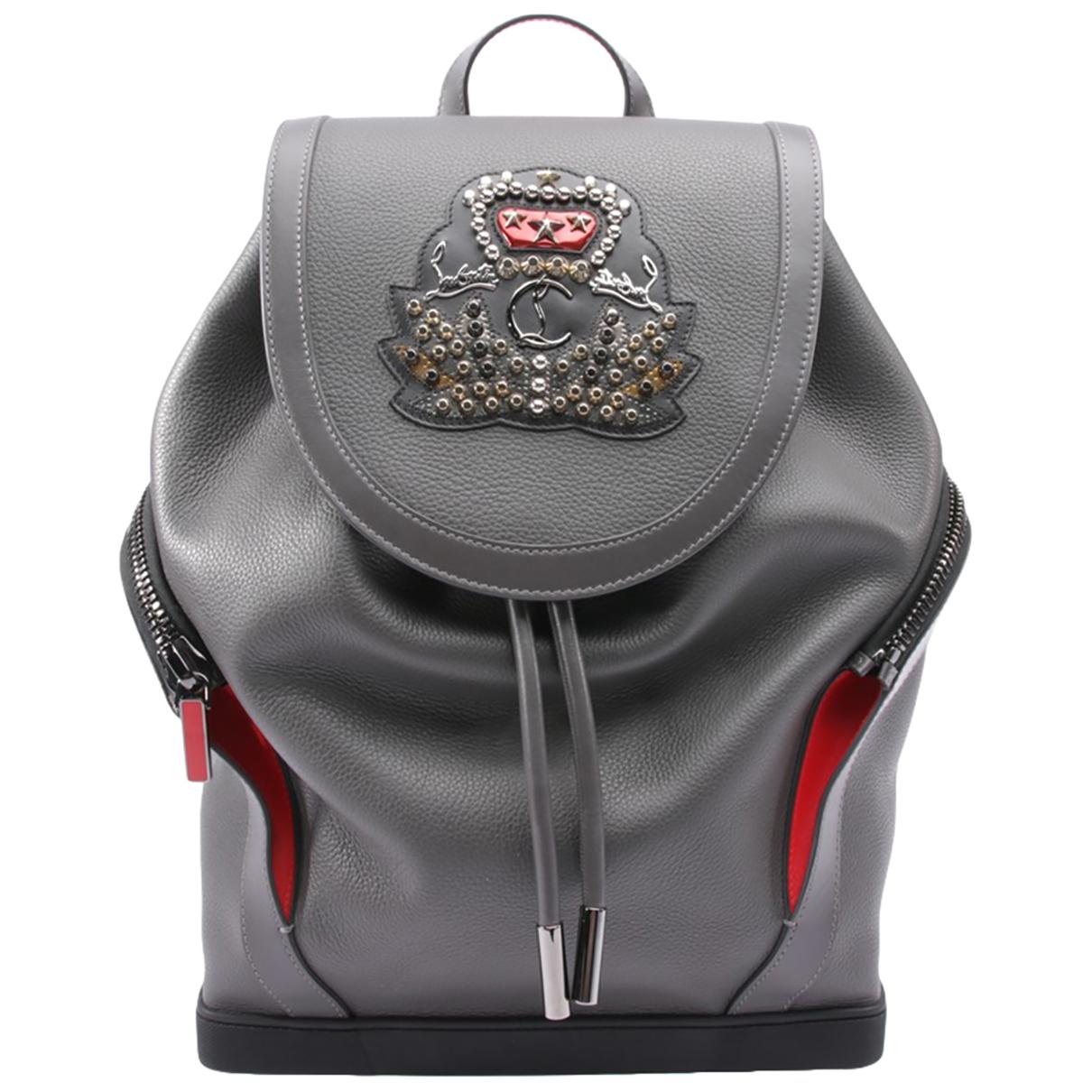 Christian Louboutin \N Black Leather backpack for Women \N