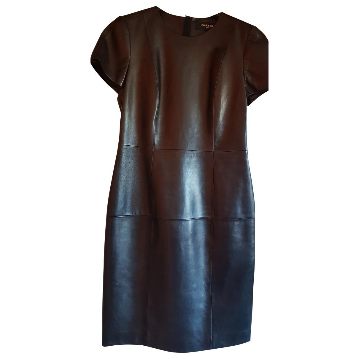 Paule Ka - Robe   pour femme en cuir - noir