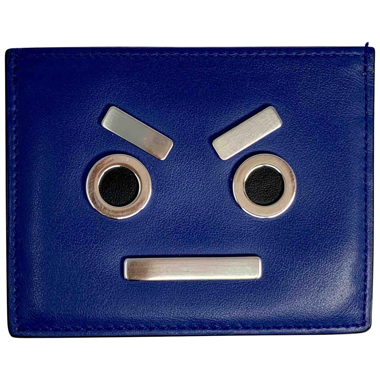 Fendi \N Kleinlederwaren in  Blau Leder
