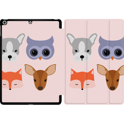 Apple iPad 9.7 (2018) Tablet Smart Case - Animal Friends on Pink von caseable Designs