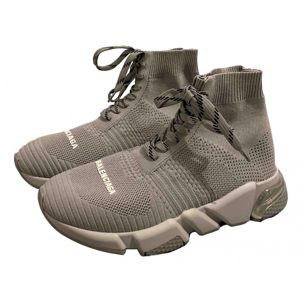 Balenciaga Speed Sneakers in  Grau Leinen