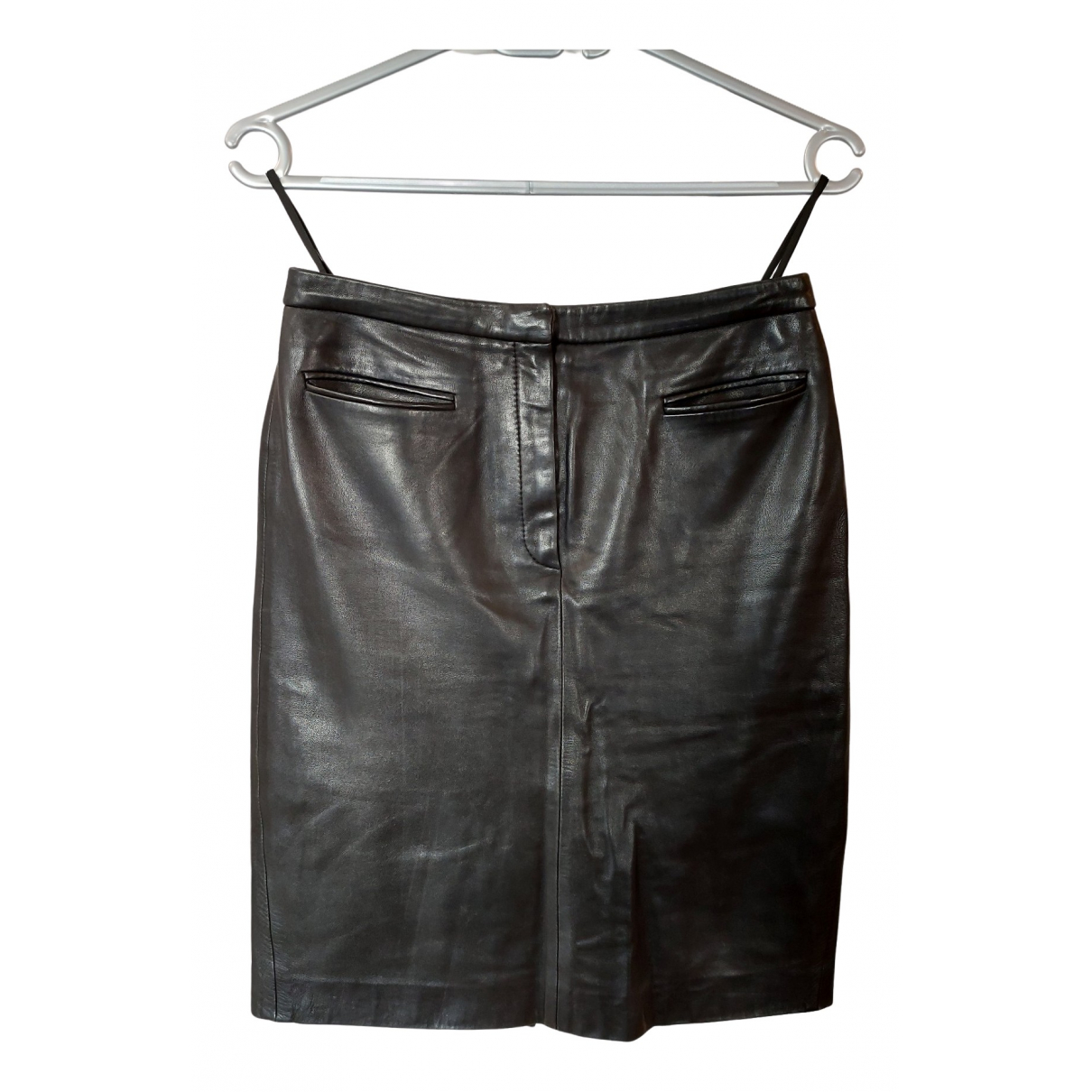 Cerruti N Black Leather skirt for Women 38 FR