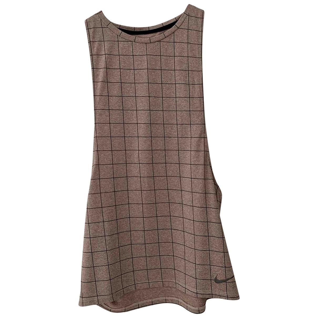 Nike - Top   pour femme en coton - rose
