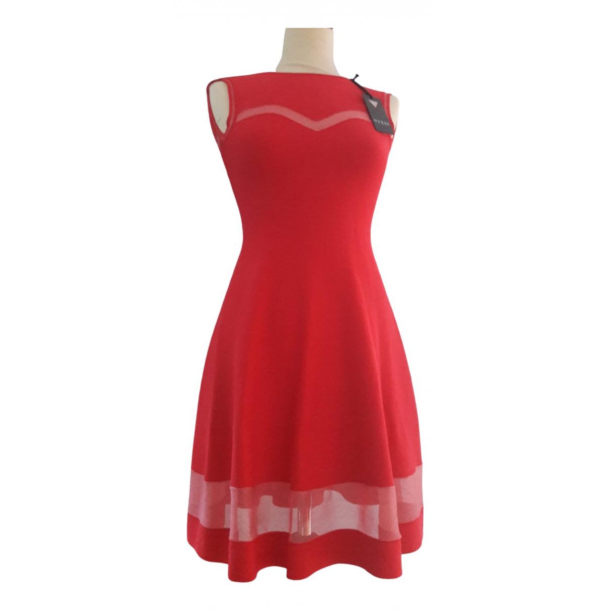 Guess \N Kleid in  Rosa Viskose