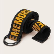 Cinturon de cintura con patron de letra