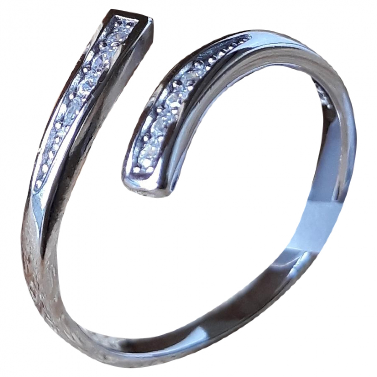 Non Signe / Unsigned \N Ring in  Silber Silber