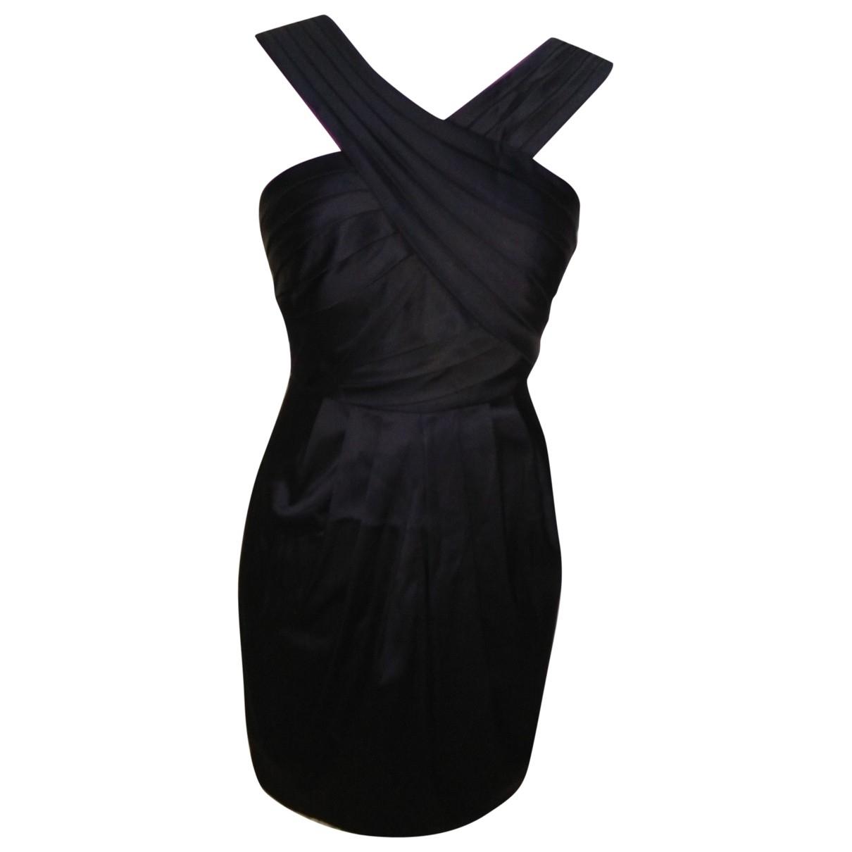 Bcbg Max Azria \N Kleid in  Schwarz Synthetik