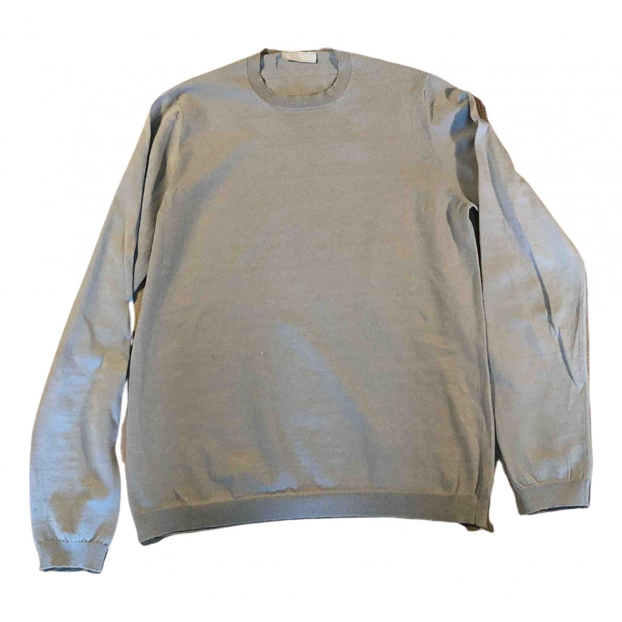 Prada N Grey Cotton Knitwear & Sweatshirts for Men 50 IT