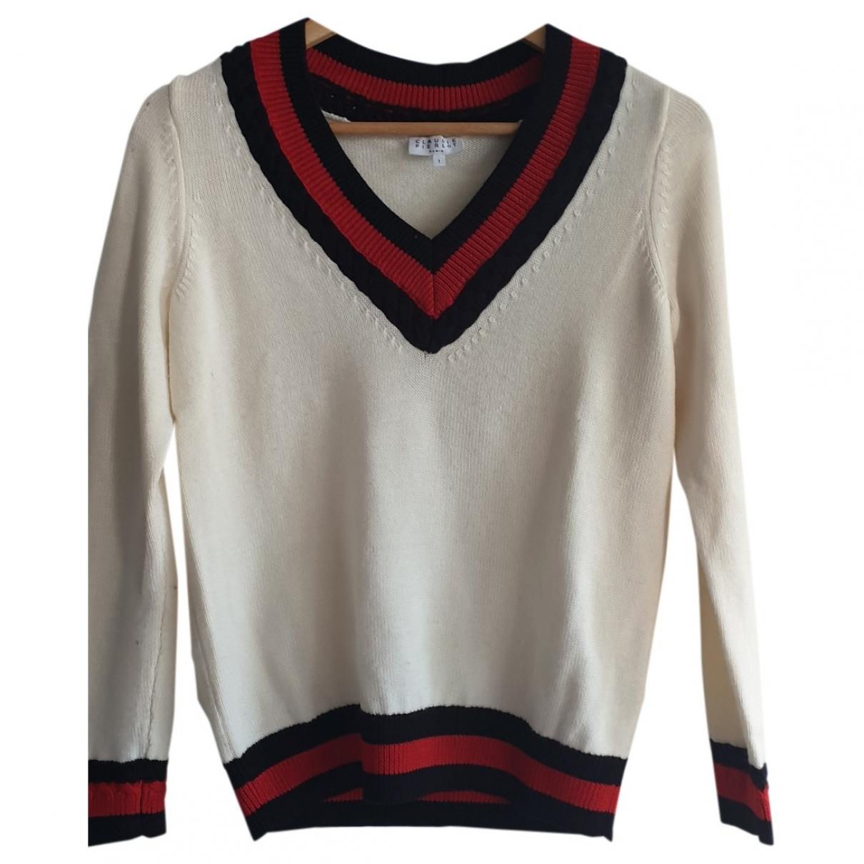 Claudie Pierlot - Pull   pour femme en laine - blanc