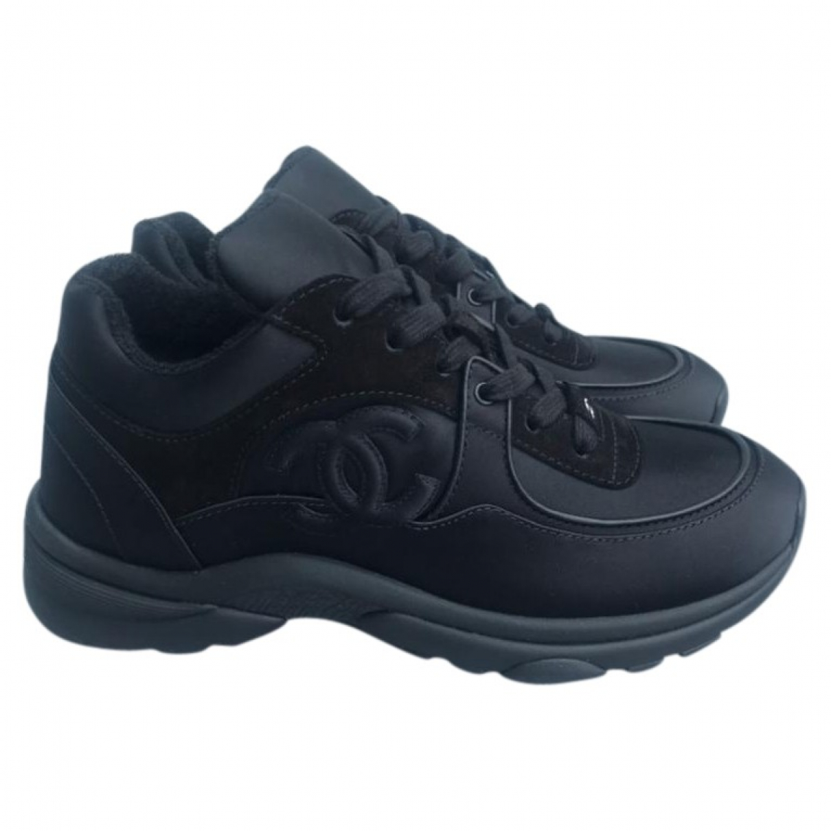 Chanel \N Black Cloth Trainers for Women 4.5 UK