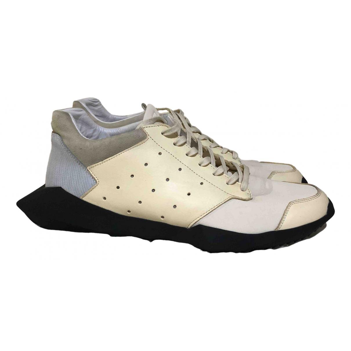 Adidas & Rick Owens - Baskets   pour homme en toile - blanc