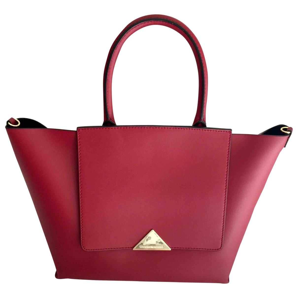 Emporio Armani \N Handtasche in  Rot Leinen
