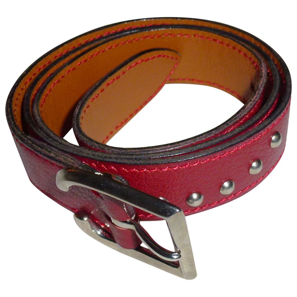 Laffargue \N Red Leather belt for Women 80 cm
