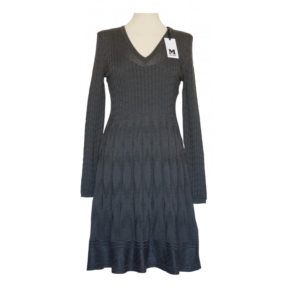 M Missoni N Grey Wool dress for Women 44 IT