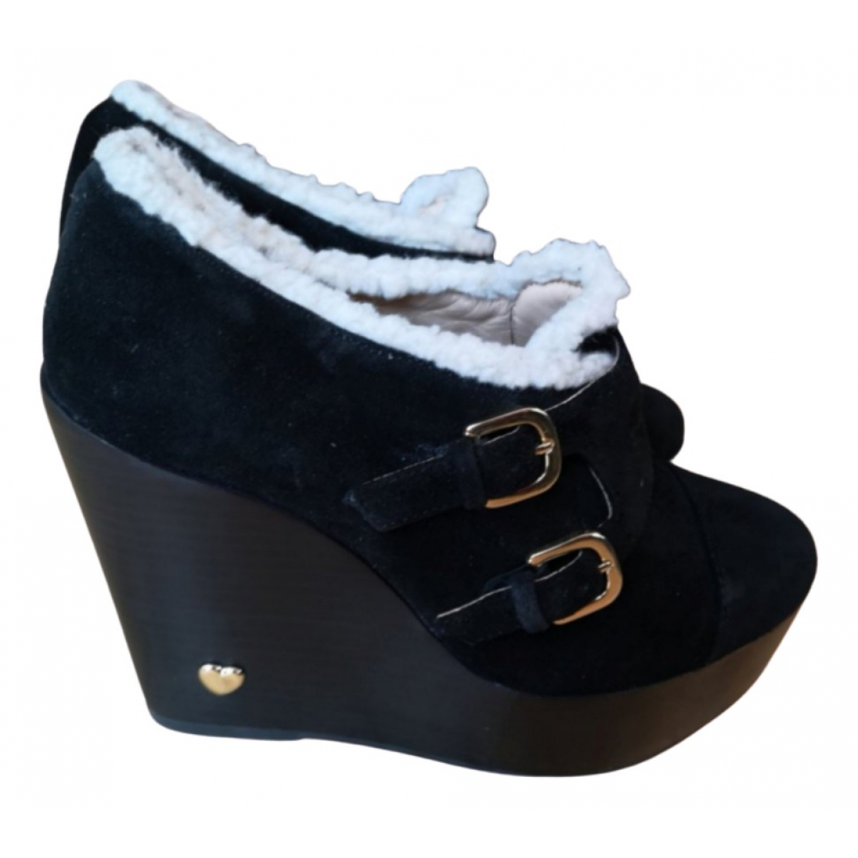 Moschino - Boots   pour femme en suede - noir