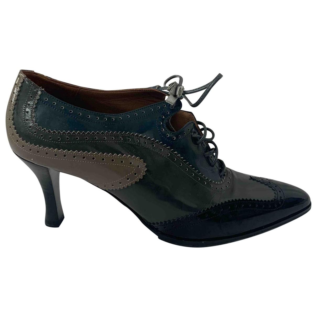 Hermes - Escarpins   pour femme en cuir - bleu