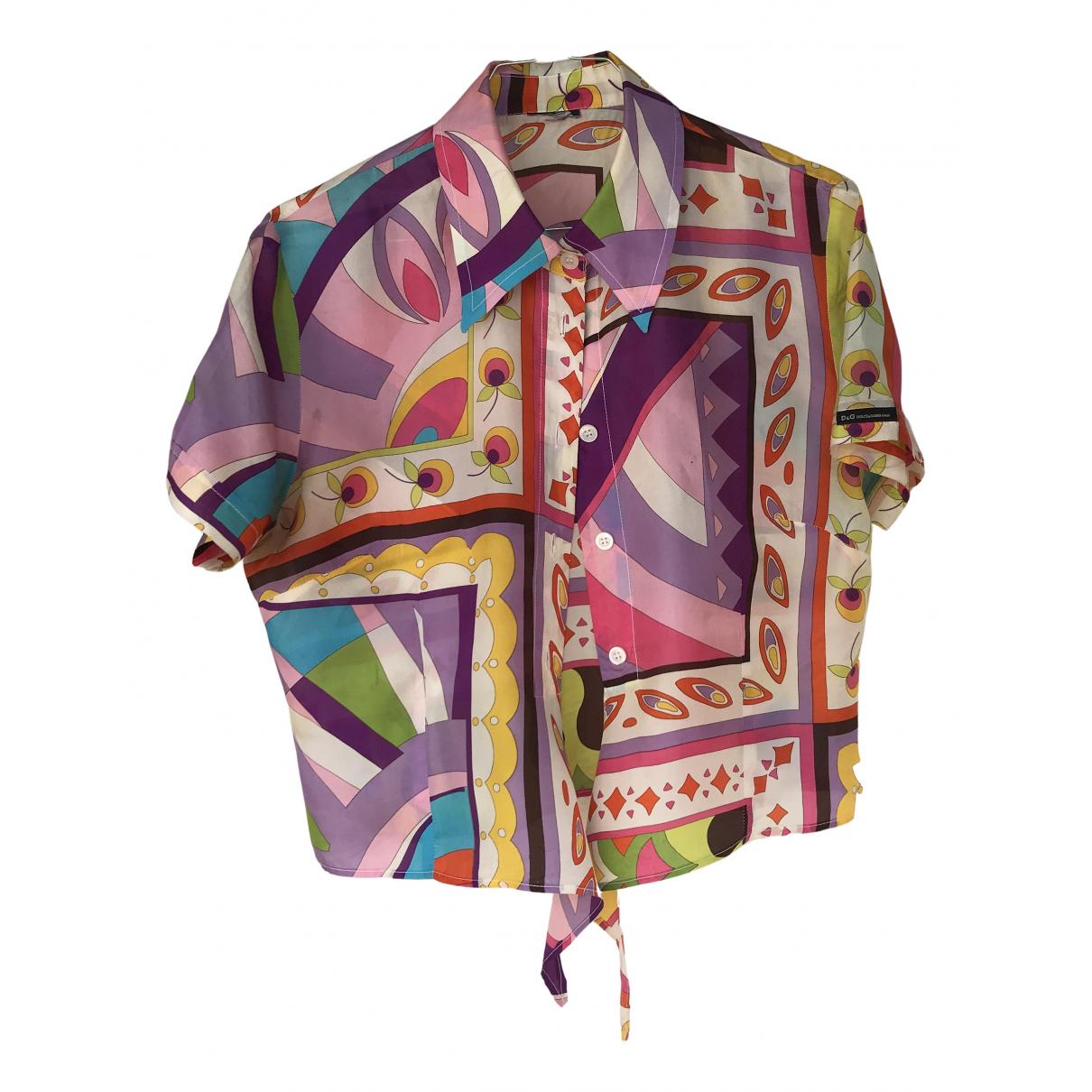 D&g N Multicolour Silk  top for Women 42 IT