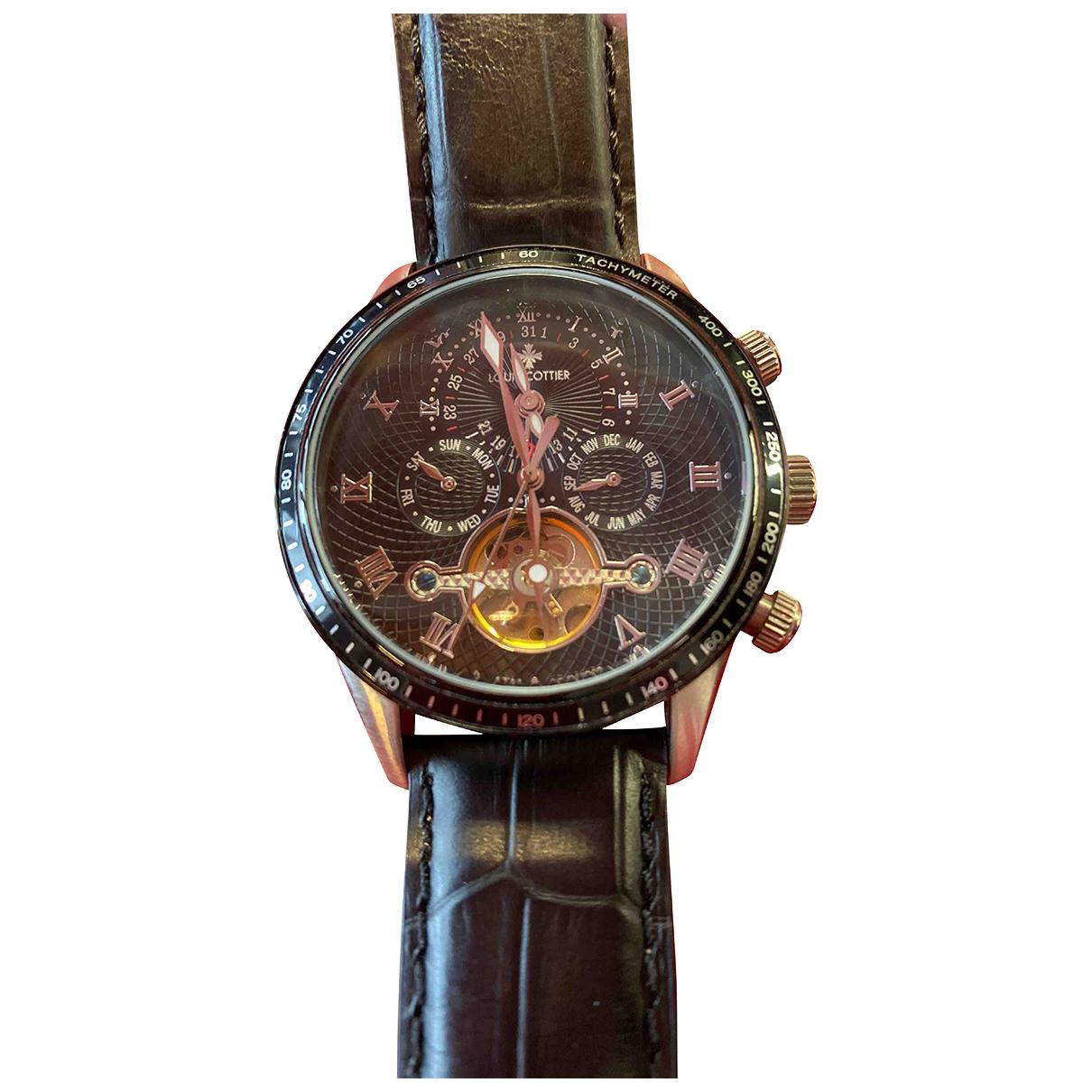 Louis Cottier \N Uhr in  Schwarz Stahl