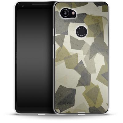 Google Pixel 2 XL Silikon Handyhuelle - Geometric Camo Green von caseable Designs