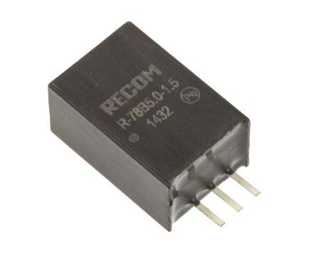 Recom Through Hole Switching Regulator, 5V dc Output Voltage, 6.5 → 18V dc Input Voltage, 1.5A Output Current