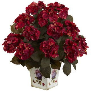 Hydrangea with Large Floral Planter (Anniversary - Bamboo)