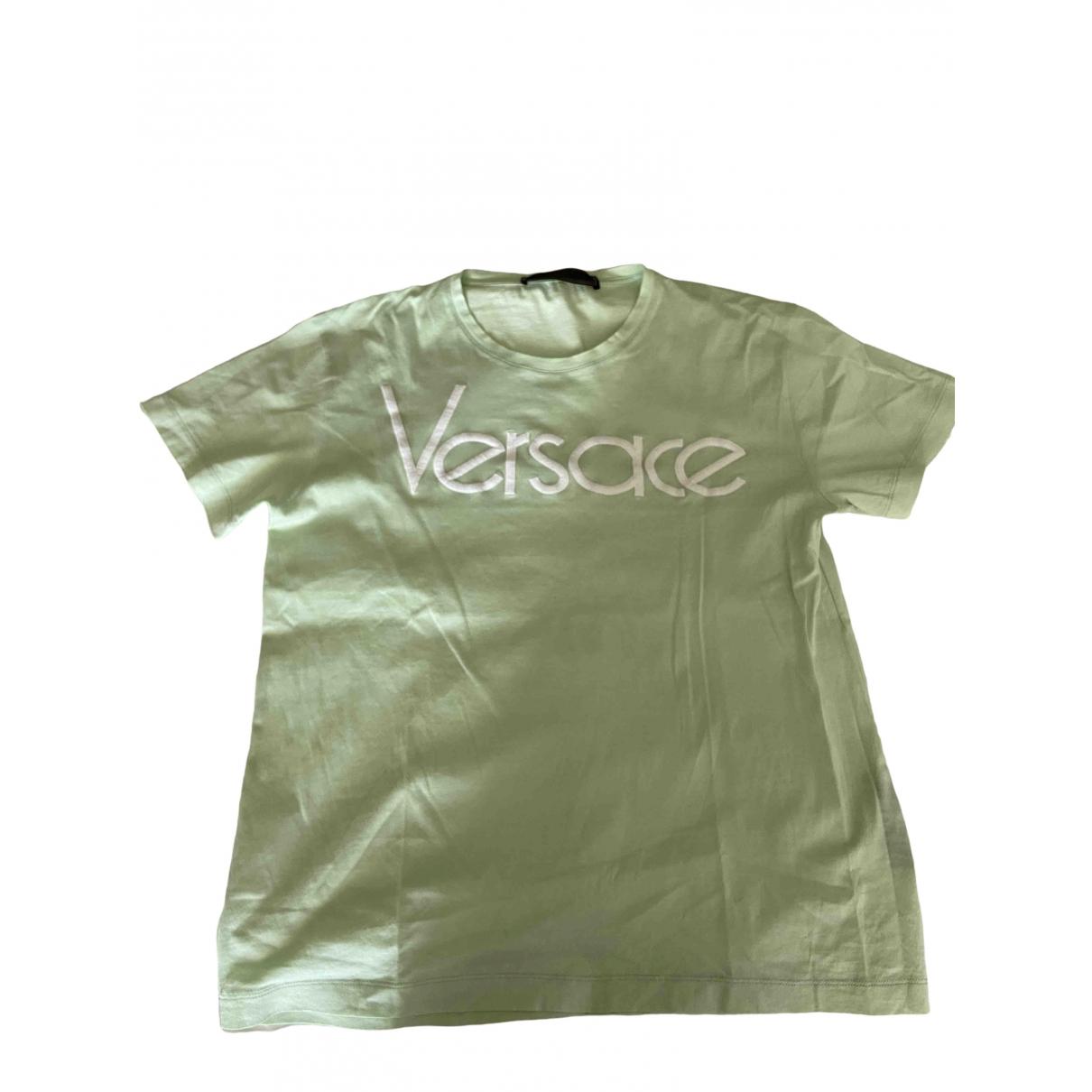 Versace - Top   pour femme en coton - vert