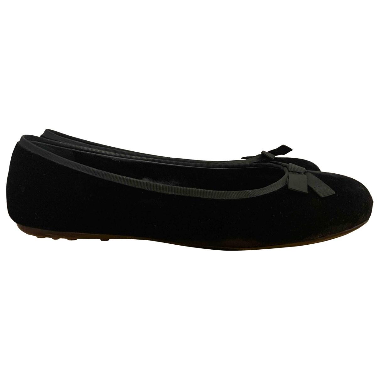 Carshoe - Ballerines   pour femme en velours - noir