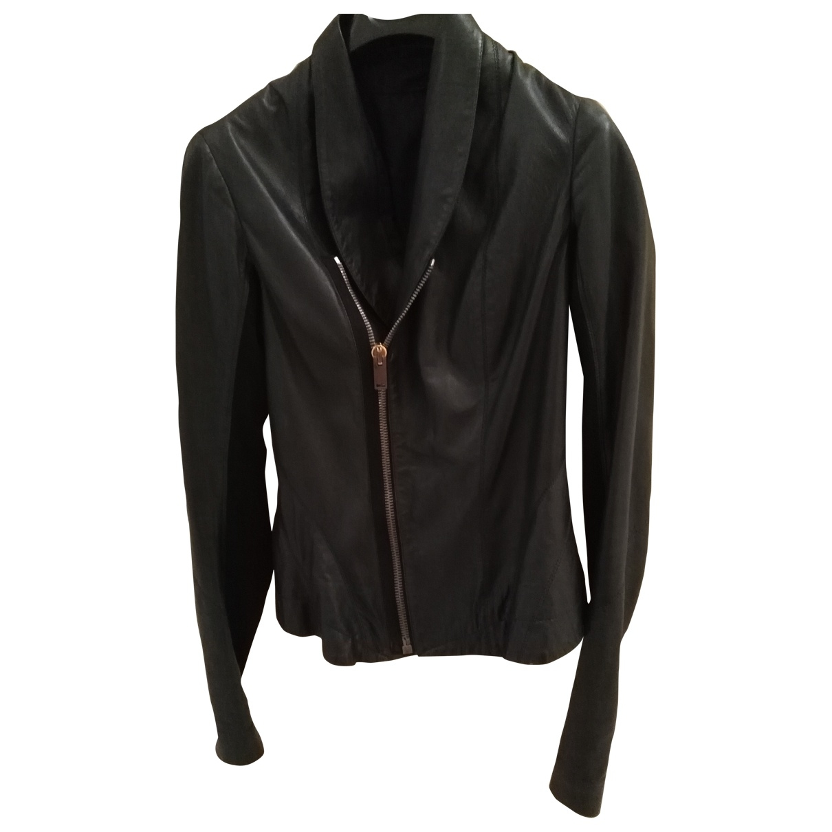 Rick Owens \N Black Leather Leather jacket for Women 40 IT